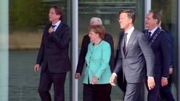 Bondskanselier Angela Merkel op bezoek bij ASML in Eindhoven