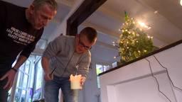 Een kerstboom van boerenkool in Vinkel