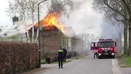 Boerderijwoning in Haren gaat in rook op