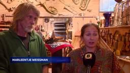 Kunstenaars Geert en Marleentje willen loods niet kwijt.