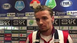 Ben Rienstra baalt na duel met NAC: 'Als je thuis 1-1 speelt is het wel zuur'