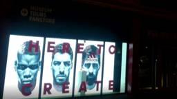 PSV-fans woedend over afbeelding Suárez in de etalage van het stadion