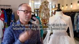 Jouni uit Syrië loop stage bij modekoning Addy van den Krommenacker