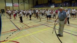 In Bergen op Zoom lieten 240 55-plussers zich van hun sportiefste kant zien en vestigden zo een nieuwe wereldrecord.