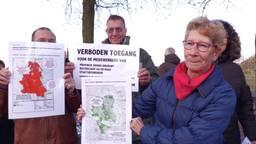 De omwonenden voeren actie tegen maatregelen in de Peel