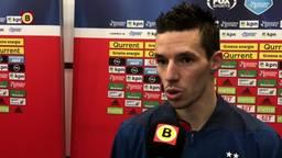 Nick Viergever vond de eerste helft te matig tegen Feyenoord