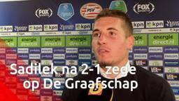 Michal Sadilek blij met zege PSV: 'Hadden er liever meer gemaakt'