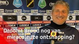 NAC-trainer Ruud Brood droomt niet van miraculeuze ontsnapping: 'Maar ik blijf erin geloven'