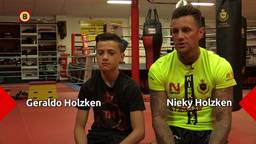 Nieky Holzken heeft opvolger al in eigen huis met gemotiveerde zoon Geraldo (12): 'Ik wil ook wereldkampioen worden'