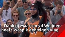 Dankzij topprestatie Maarten van der Weijden heeft Waspik nu een eigen dorpsvlag