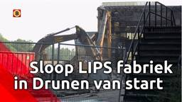 In Drunen is gestart met het slopen van de historische LIPS-fabriekspanden