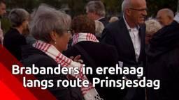 Brabanders in erehaag langs de route van Prinsjesdag