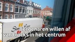 Vrachtwagens teisteren binnenstad van Bergen op Zoom, 'We pikken het niet meer'