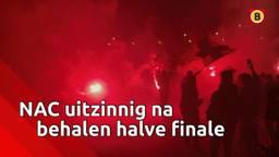 Groot feest bij NAC na behalen van halve finale in de beker.