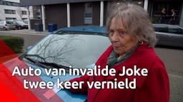 Joke (76) in tranen nadat auto op invalideplaats vernield is