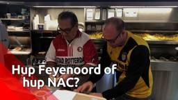 Tweespalt in Zevenbergse cafetaria door halve finale Feyenoord-NAC.