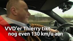 VVD'er Thierry vroemt nog één keertje met 130 over de snelweg: 'Dit is heerlijk!'