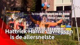 Hattrick Harrie Lavreysen is weer thuis
