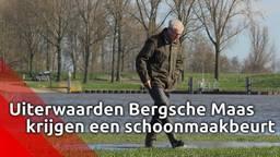 Ook de uiterwaarden van de Bergsche Maas zijn toe aan een schoonmaakbeurt