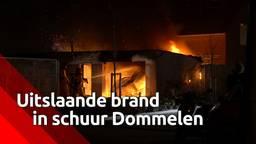 Uitslaande brand verwoest garagebox en auto in Dommelen