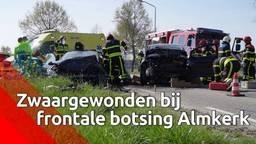 Twee zwaargewonden bij frontale botsing in Almkerk