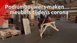 Podiumbouwers maken kantoormeubels tijdens corona