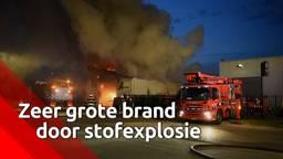 Grote brand door stofexplosie in timmerfabriek Esbeek