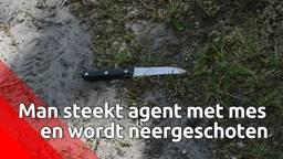 Man steekt agent met mes in Haghorst en wordt neergeschoten