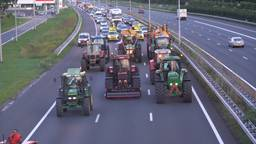 Boeren blokkeren de A2