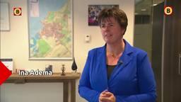 Ina Adema heeft stiekem veel Brabants in haar werkkamer in Lelystad.