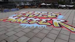 Black Lives Matter-kunstwerk in Eindhoven na een dag al beklad