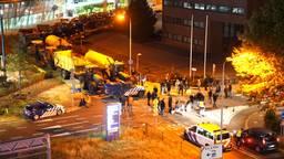 Boze boeren blokkeren Eindhoven Airport