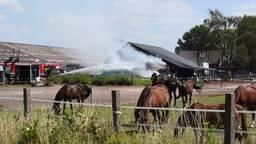 Brand tijdens ponykamp bij manege in Goirle