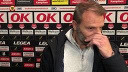NAC-coach Steijn met een pijnlijke constatering na verloren duel tegen NEC.