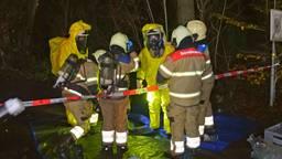 Lekkende en rokende vaten met drugsafval gevonden in Cromvoirt