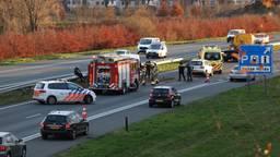 Ongeluk met vijf auto's op de A50 bij Son, weg is weer vrij