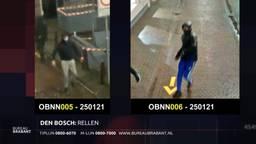 Politie laat beelden zien van twee relschoppers van de avondklokrellen in Den Bosch.