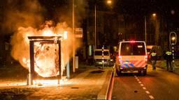 Beelden van de ongeregeldheden in Tilburg.
