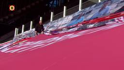 PSV -fans ruimen gelaten de Europa-spandoeken op