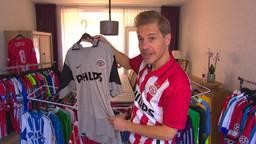 Martijn verzamelt gedragen PSV-shirts