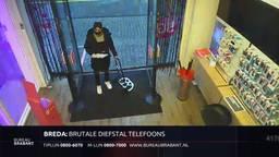 Bureau Brabant koerier steelt mobieltjes