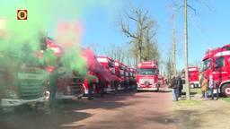 Erehaag van trucks voor overleden Arno (43): 'Een echte vrachtwagenman'