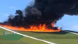 Grote brand bij skibaan De Schans in Uden