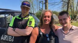 Rino Driessen met zijn cliënten Joël en Wesley van Ariba.