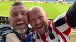 Theon was eindelijk weer bij een wedstrijd van Willem II: 'Nu eerst bier!'