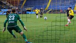 Mounir El Allouchi scoorde twee keer voor NAC tegen MVV.