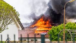 Brand verwoest gastenverblijf in Moergestel