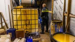Xtc-lab ontdekt in een loods in Tilburg