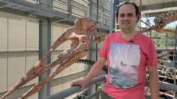 Het oertijdmuseum in Boxtel heeft een nieuwe dinosaurus die wordt tentoongesteld.