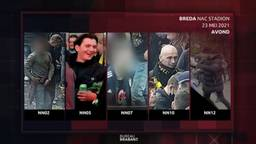 Rellende NAC-fans herkenbaar op beeld bij Bureau Brabant